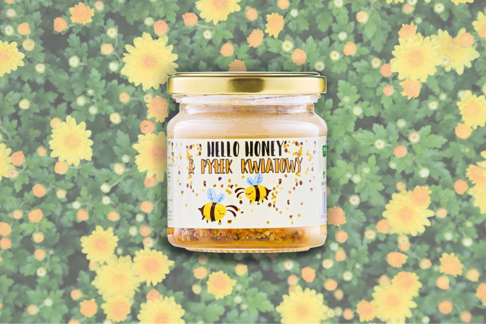 Hello Honey wtih bee polen